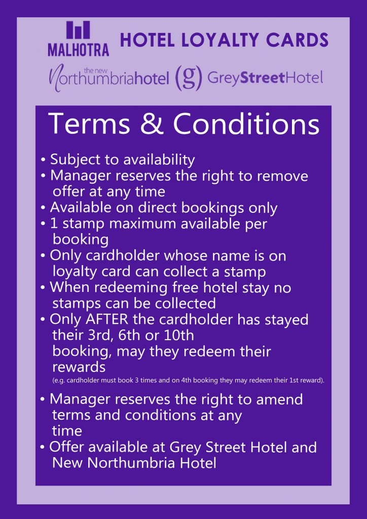Hotel Loyalty Terms and Conditions for Customers