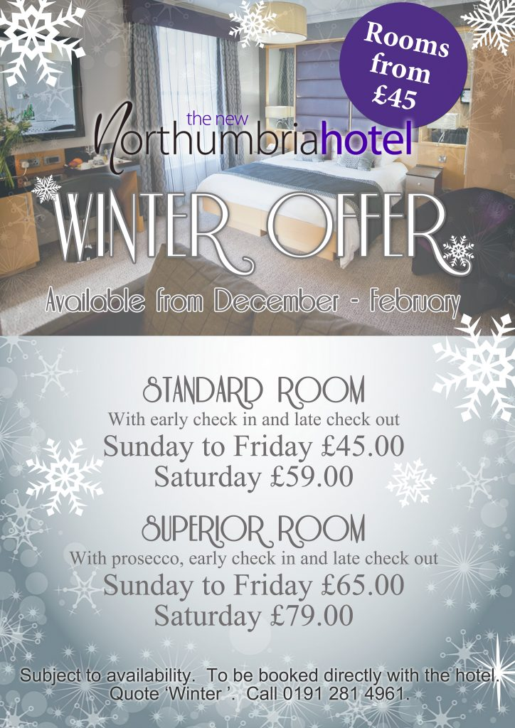 Winter Offer at The New Northumbria Hotel, Jesmond