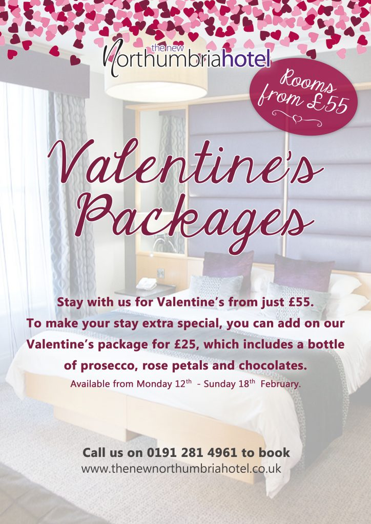 Valentine's Packages at The New Northumbria Hotel Jesmond Newcastle